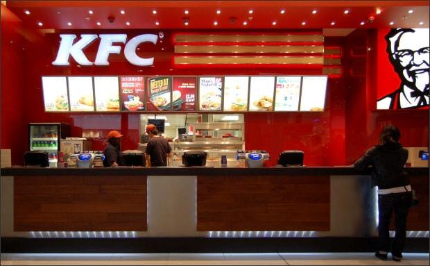 Ресторан быстрого питания KFC.